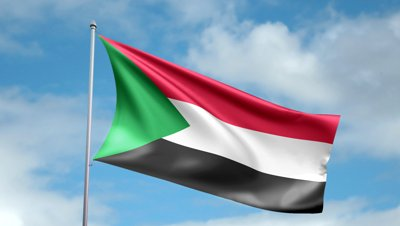 stock-footage-hd-p-clip-of-a-slow-motion-waving-flag-of-sudan-seamless-seconds-long-loop