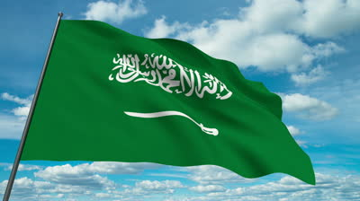 stock-footage-saudi-arabia-flag-waving-against-time-lapse-clouds-background