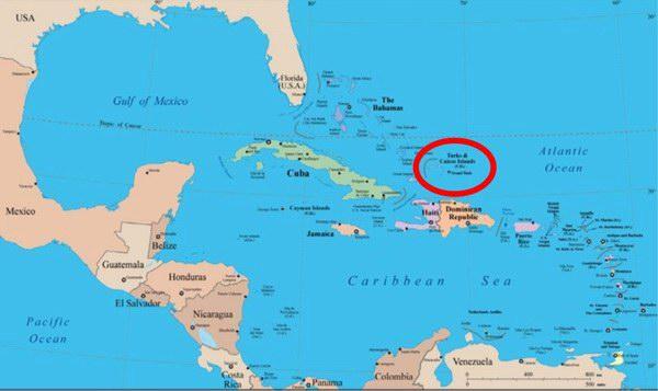 Caribbean Map Lg